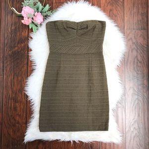 Trina Turk Green Strapless Mini Sheath Dress